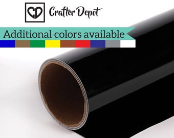 "Oracal 651 Vinyl Rolls - 12""x15' Gloss Black 070, Vinyl Adhesive Roll, Vinyl Rolls 651, Cricut Vinyl Roll, Outdoor Vinyl By Roll, Vinyl Roll"