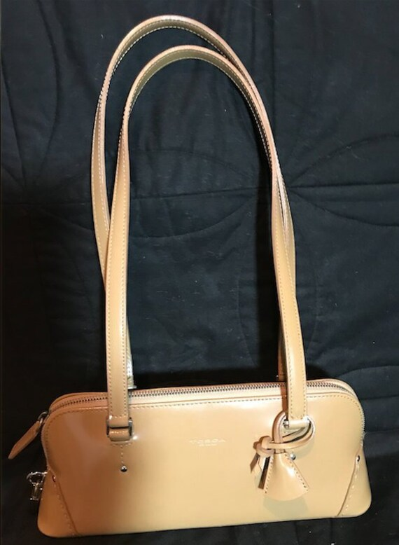 4eae6b5e12d2 Tosca Blu Leather Purse with Lock and Key  Handbags Tosca