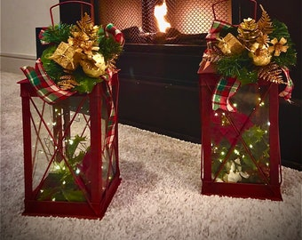 Christmas Lanterns Etsy
