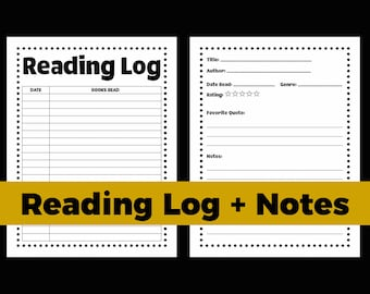 reading journal reading log reading tracker book log book blogger printable bookish journal download reading printable