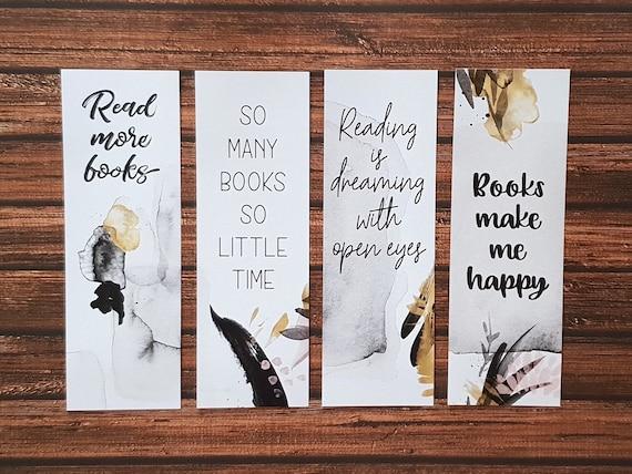 Lesezeichen Zum Ausdrucken Zitate über Bücher Und Lesen Buchliebhaber Bücherwurm Sofortiger Download Papier Lesezeichen