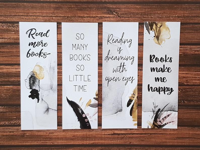 Extrem Lesezeichen zum Ausdrucken Zitate über Bücher und Lesen | Etsy PS22