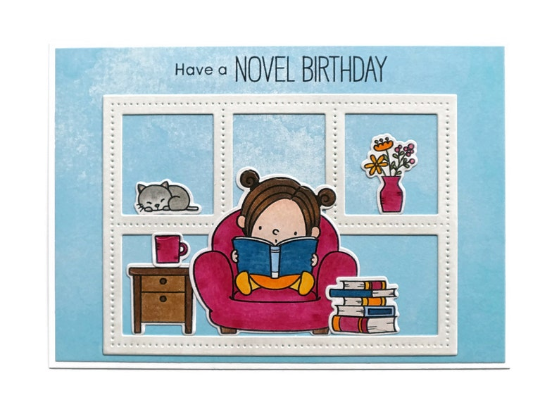 Bookish Birthday Card Literary Gifts For Bookworms Handmade