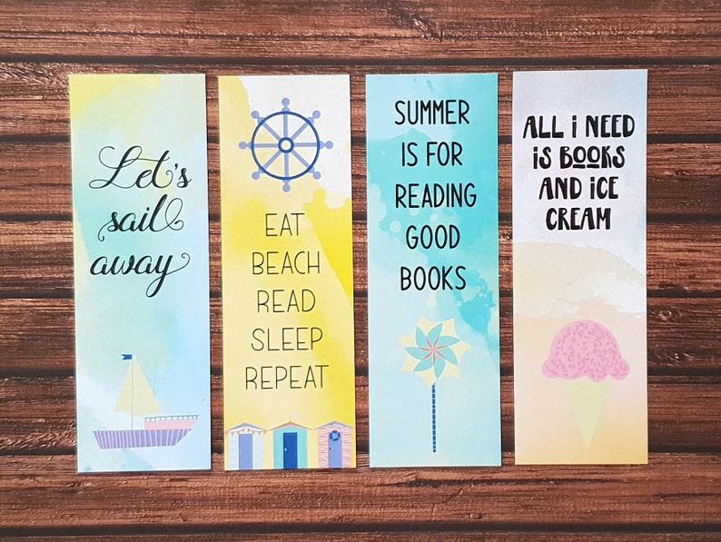 Favorit Lesezeichen Papier Download zum Ausdrucken Sommer Strand | Etsy JL22