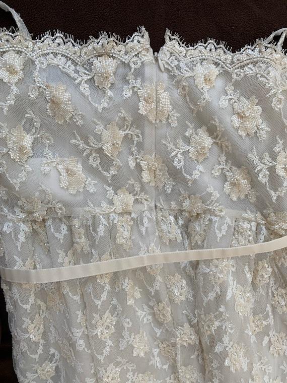 Valentino Vintage Sequin Dress Ivory, Vintage Seq… - image 4