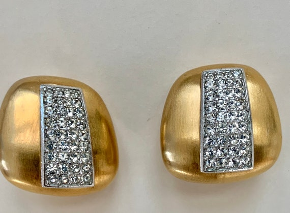 Lanvin vintage clip on earrings, Lanvin, crystal … - image 4