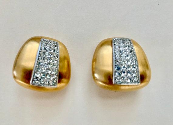 Lanvin vintage clip on earrings, Lanvin, crystal … - image 1