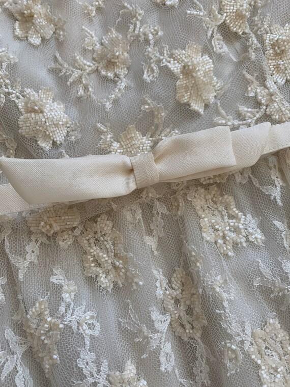 Valentino Vintage Sequin Dress Ivory, Vintage Seq… - image 5