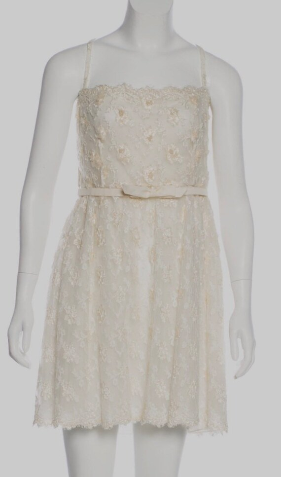 Valentino Vintage Sequin Dress Ivory, Vintage Sequ