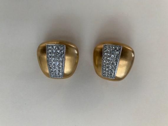 Lanvin vintage clip on earrings, Lanvin, crystal … - image 5
