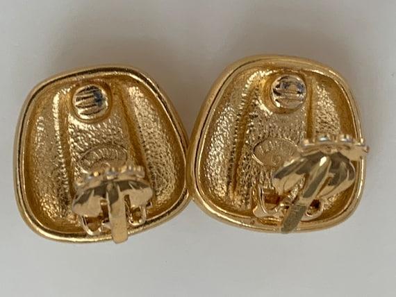 Lanvin vintage clip on earrings, Lanvin, crystal … - image 2