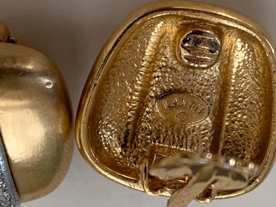 Lanvin vintage clip on earrings, Lanvin, crystal … - image 3