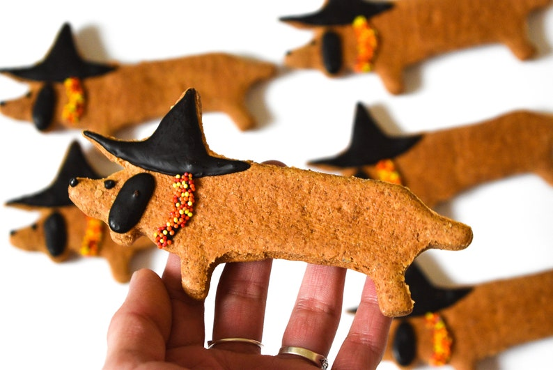Witchy Wiener Dog Cookies Organic Dog Treats Gourmet Dog image 2