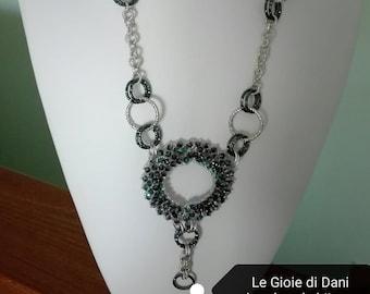 "Handmade necklace""Midnight necklace"""