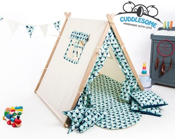 Kids teepee tent playhouse, tent for children, wigwam, toucans birthday gift, kids tipi, kids tent, kids teepee, play tent, nursery decor