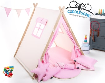Kids teepee tent playhouse, tent for children, pink teepee, best birthday gift, kids tipi, kids tent, kids teepee, play tent, nursery decor