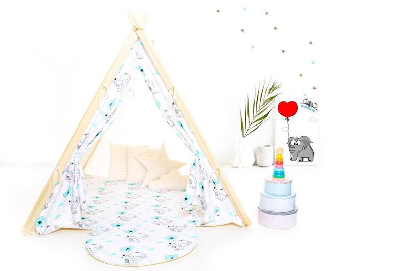 Joli tipi éléphant pour enfant - Créatrice ETSY : MyCUDDLESOME