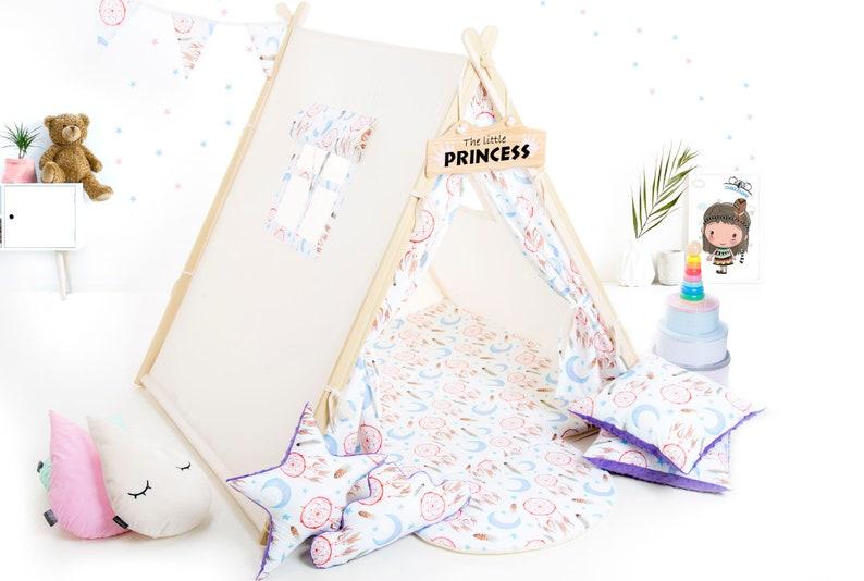 Tente tipi violet Dreamcatcher pour enfants - Créatrice ETSY : MyCUDDLESOME