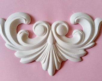 """Gips Verzierung Ornament Stuck Relief Stuckdekor /""""Rokoko Traum/"""" REDUZIERT"""