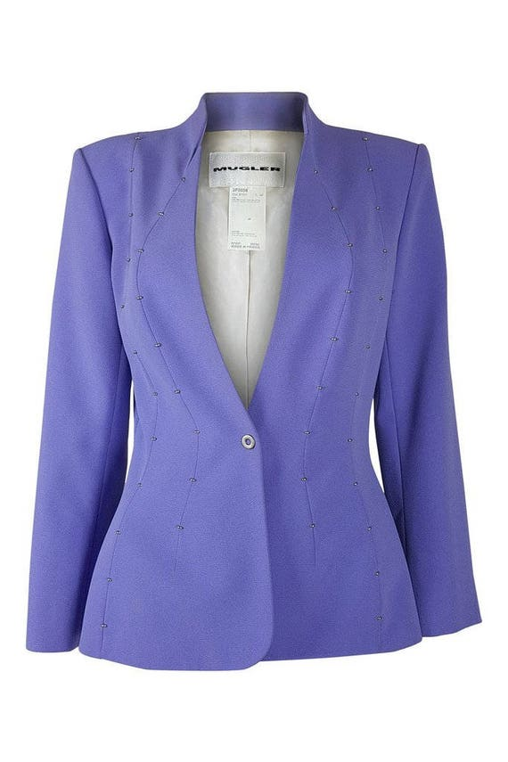 THIERRY MUGLER Vintage Lilac Fitted Jacket - Mugle