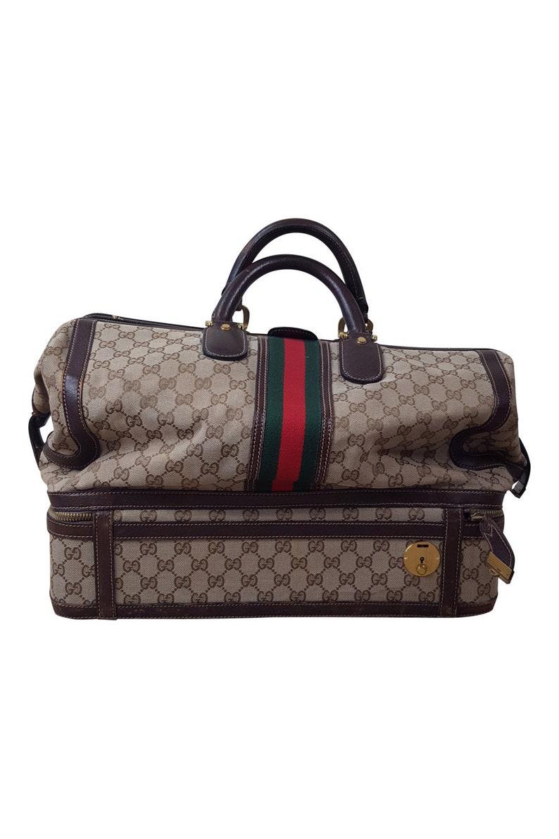 96561385ae431 Gucci Vintage Supreme gg Weekender przypadku podróży M   Etsy