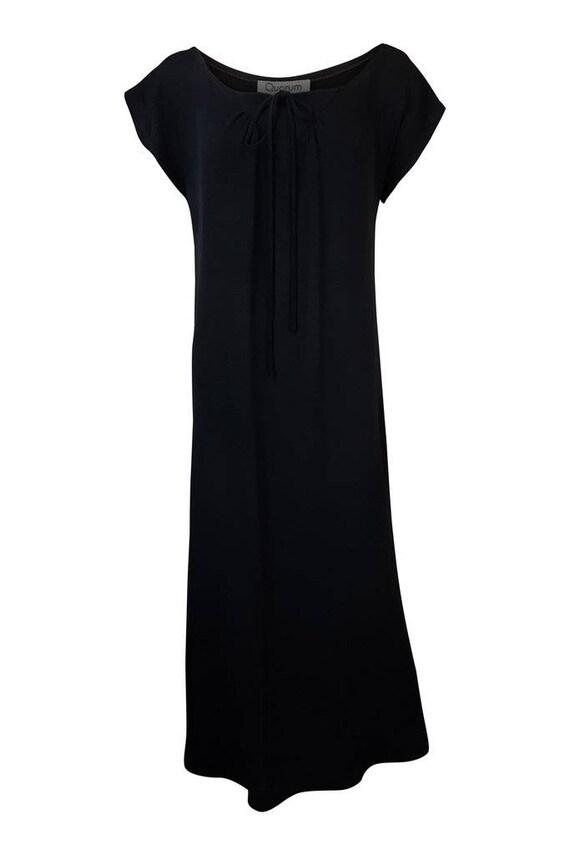 QUORUM Vintage Black Sheath Maxi Dress - Alice Pol