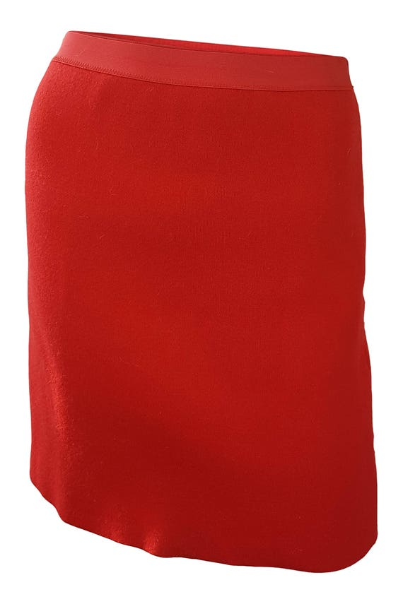 THIERRY MUGLER Vintage Red Mini Skirt (M) - Micro
