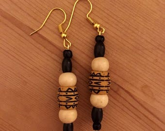 Ghanaian Afro Bead Earrings
