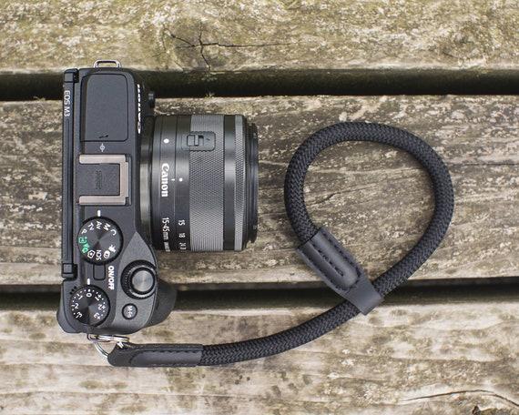 Compact Nikon Fujifilm Black Climbing Rope Camera Strap by NEVETdesigns Sony Mirrorless DSLR Wrist Camera Strap for Film Canon