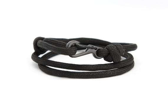 Ocean Zig Zag Y Plata Pulsera Pulsera para Hombre Mujer de anclaje cuerda paracord