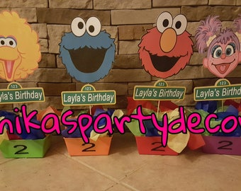 sesame street Birthday Party Centerpieces Favors