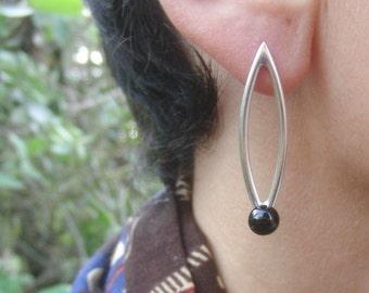 Black Onyx Earrings Sterling Silver Gemstone Stone Jewelry Dangle