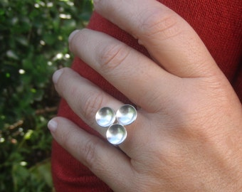 sterling silver ring - statement ring - handmade ring - adjustable ring - dainty - gift for her