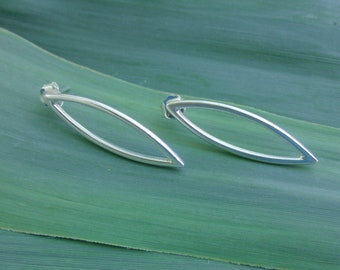 Silver Earrings, Sterling Silver Modern Earrings, Stud Silver Earrings, Minimalist Jewelry,Gift for Girlfriend,dainty,gift for her