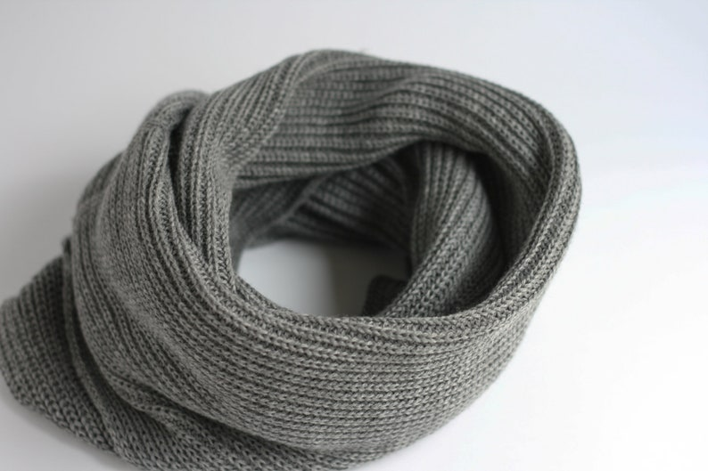 2d266c9e634 Ribbed scarf Snood scarf Tube scarf Eternity scarf Chunky