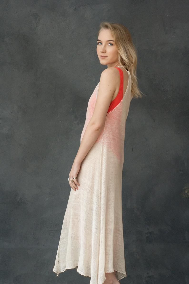 dec9c6aa0db White Linen Dress Transparent Dress Beach Dress Sleeveless
