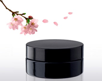 100ml black plastic jar 100g container for cosmetic cream or powder FREE SHIPPING