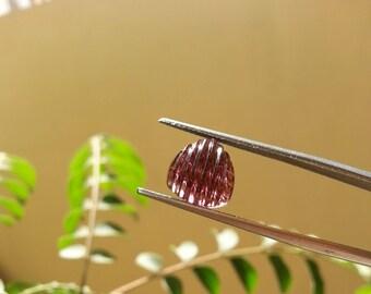 4.25cts - Natural tourmaline | pink tourmaline | tourmaline carving | tourmaline cabochon