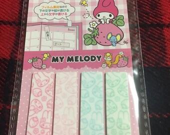My Melody Plastic Sticky Notes 4pcsx20sheets