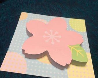 sakura cherry blossom sticky notes from japan