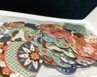 yuzen flake stickers from japan 14designs 4P