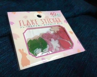 Sakura Flake stickers from japan