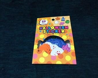 halloween sponge flake stickers 5design x 4piece