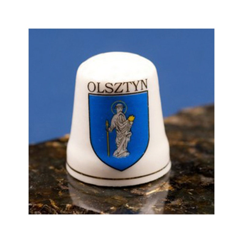 Ceramic Thimble Olsztyn City Crest