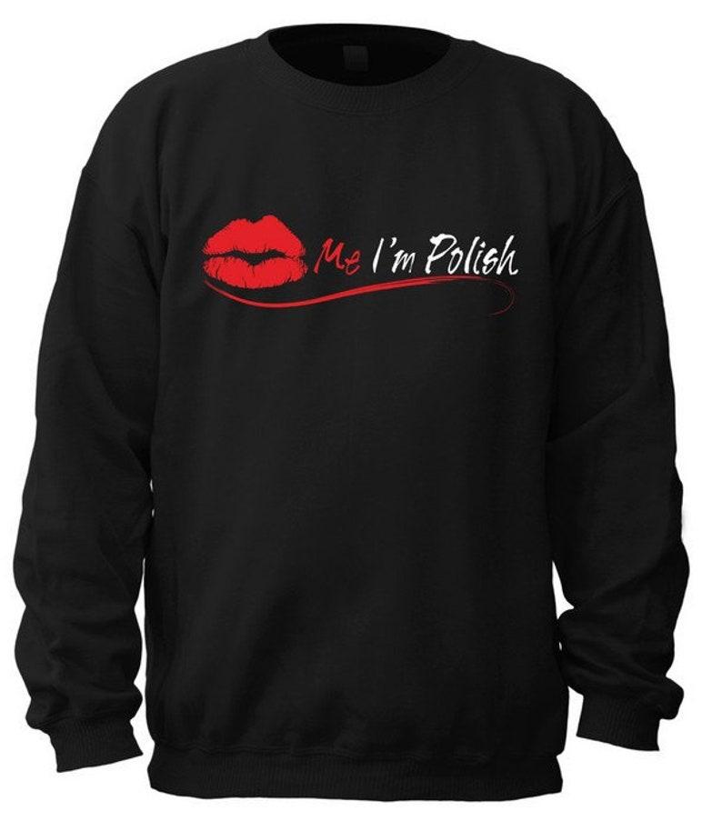 Red Background Garment Kiss Me I/'m Polish For T-Shirt,Sweatshirt Hoodie,Long Sleeve Tee,Women/'s T-Shirt,Crew Neck Sweatshirt And Tote Bag
