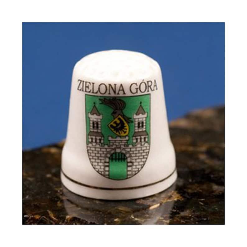 Ceramic Thimble Zielona Gora City Crest