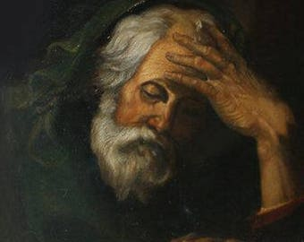 Copy oil on canvas of a painting by Jusepe de Ribera