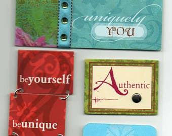 Uniquely You Soft Spoken Scrapbook Stickers Embellishments Cardmaking Crafts Me & My Big Ideas