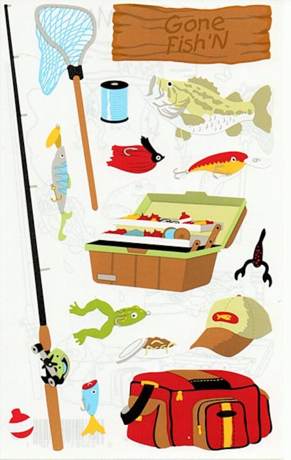 Mrs Grossman/'s FISHING Stickers NEW