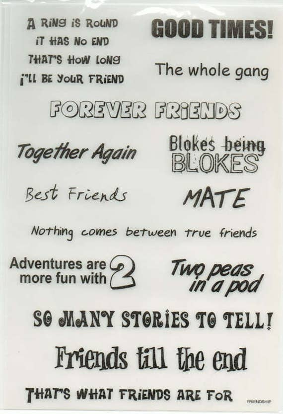 Friends Vellum Quotes Forever In Time Scrapbook Embellishments Etsy